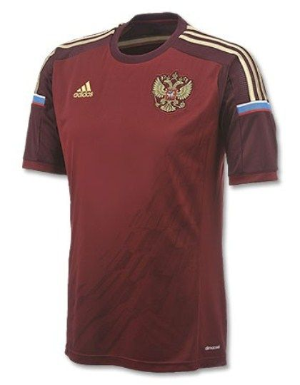 6eb2569b1 Russia World Cup 2014 Home Shirt- Adidas Russia Home Kit 14 15 ...