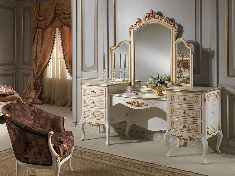 Luxury Dressing Table with Carving Design Dressing table