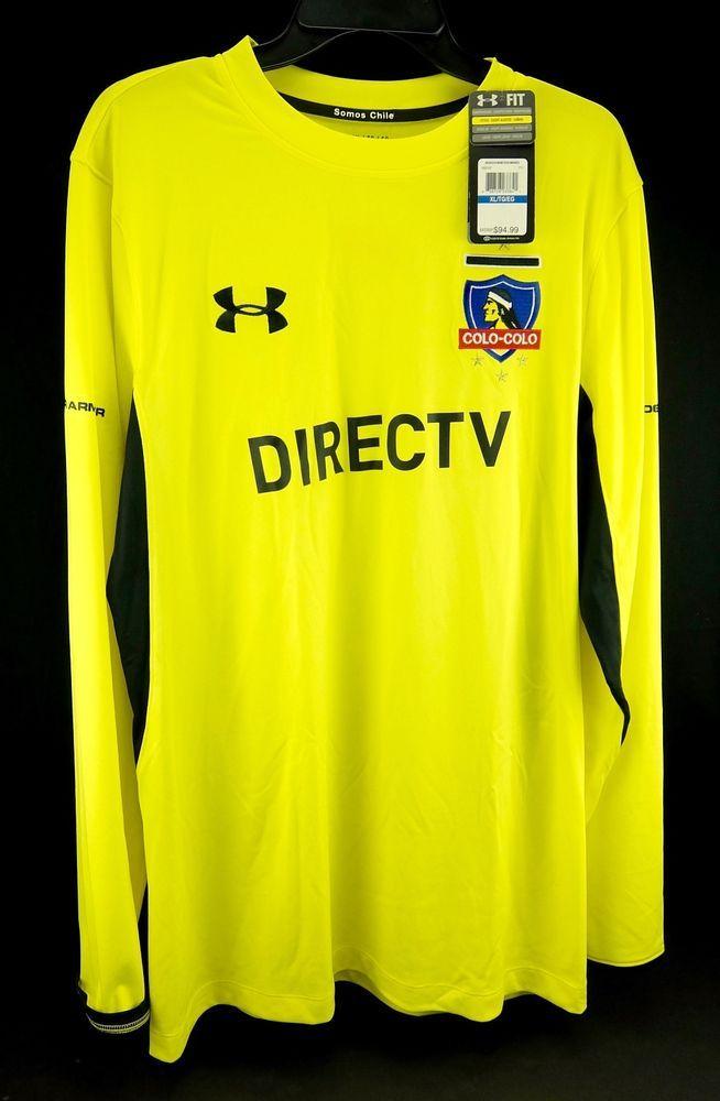 Under Armour Colo-Colo Chile UA Soccer Goalie Fan Jersey Official DIRECTV M XL #UnderArmour #ColoColo