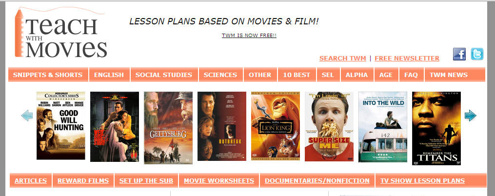 TeachWithMovies: Fun Free Lesson Plans for All Grades, Many Subjects — Emerging Education Technologies