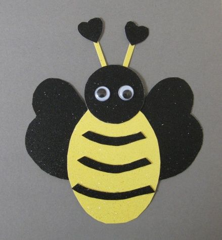 Valentine Bee Card Tutorial Bee Art Project Projects And Bees