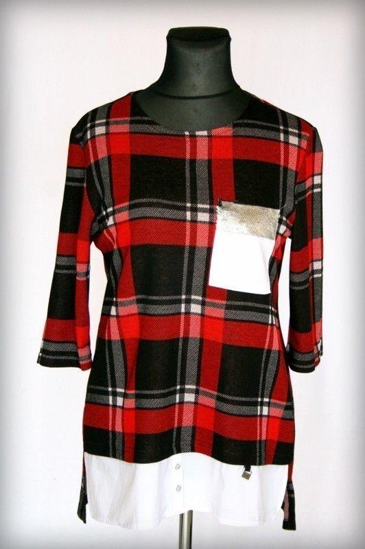 c9bb84b872 Kockás tunika - Fiatalos molett tunikák :: Ruhakirály női molett ruha  Webshop
