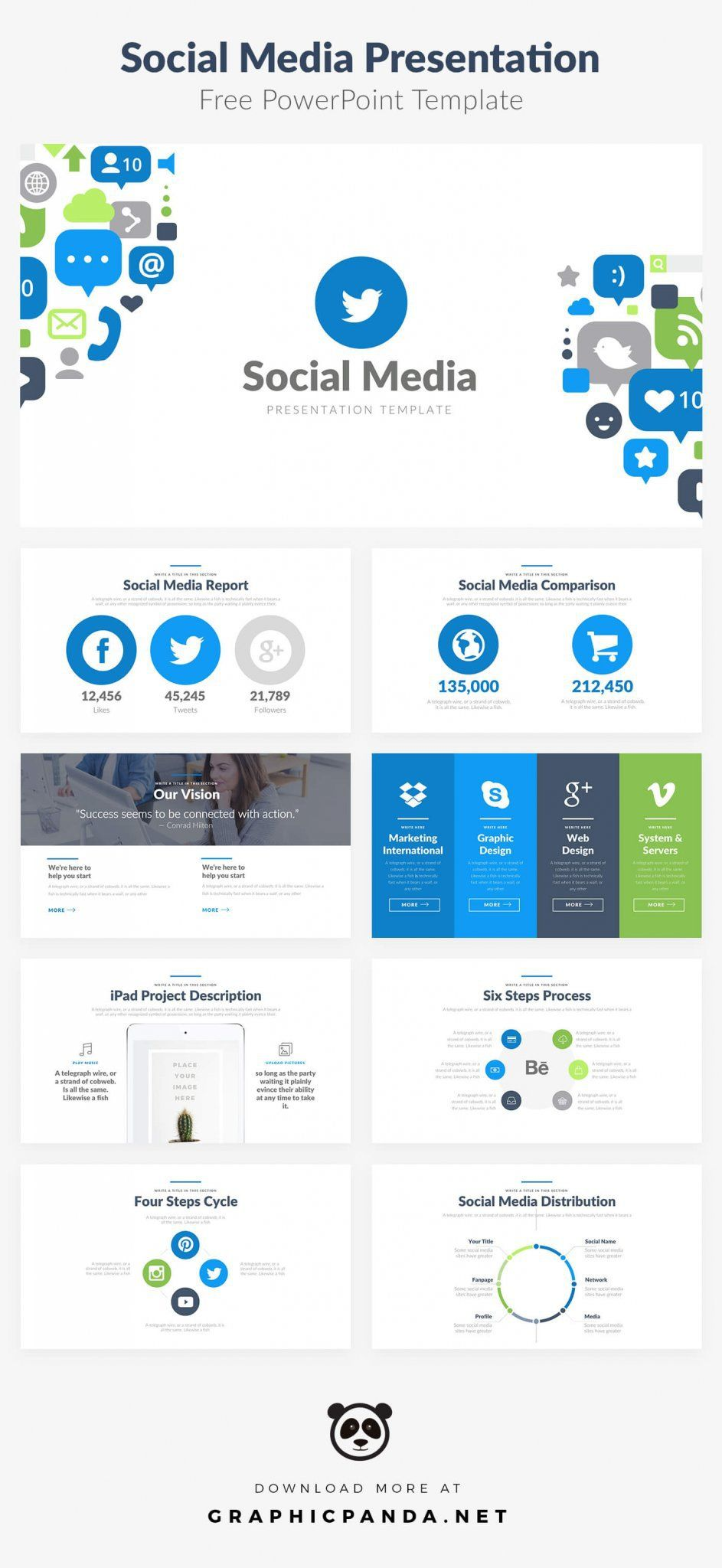 Free Powerpoint Template Free Social Media Social Media Planning Free Powerpoint Template Free social media powerpoint template