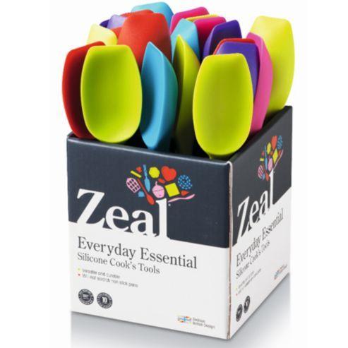 Zeal Silicone Spatula Spoon 20cm Mixed Colours Silicone