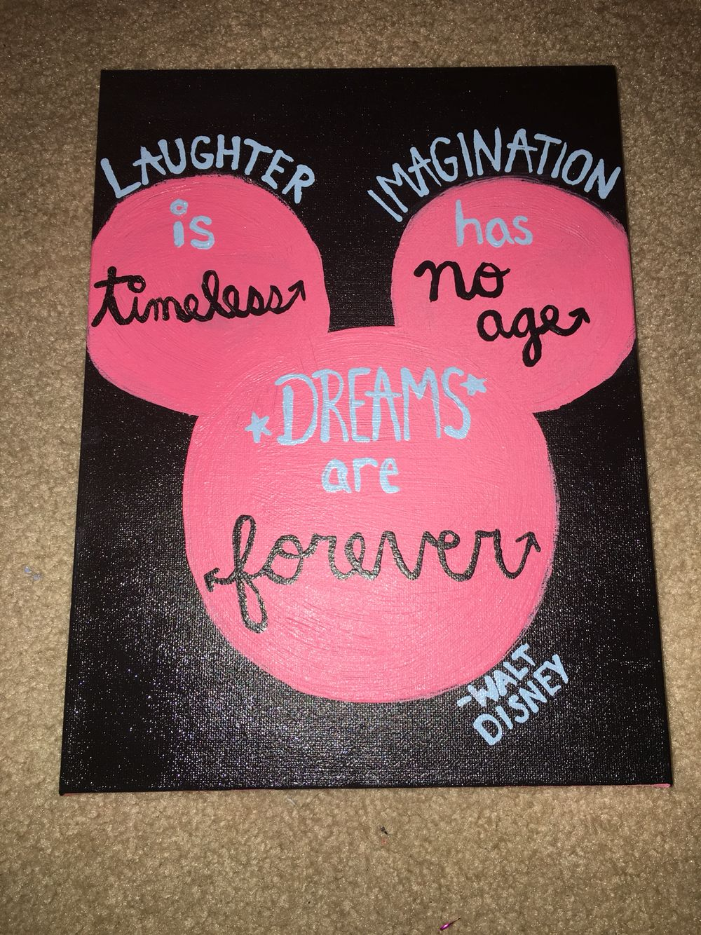 Quote Paintings Best Walt Disney Quote On A Canvas  My Diy Creations  Pinterest