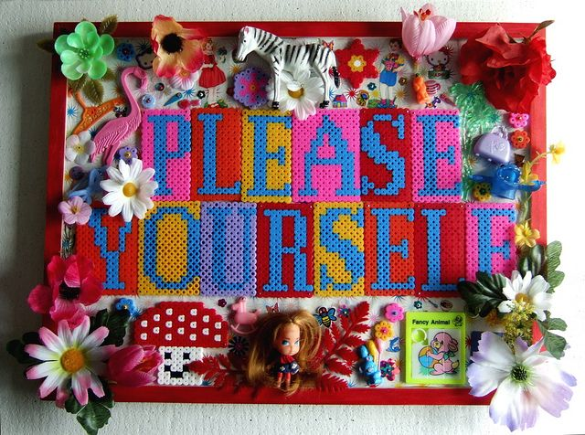 Please yourself Assemblage by kitsch , via Flickr