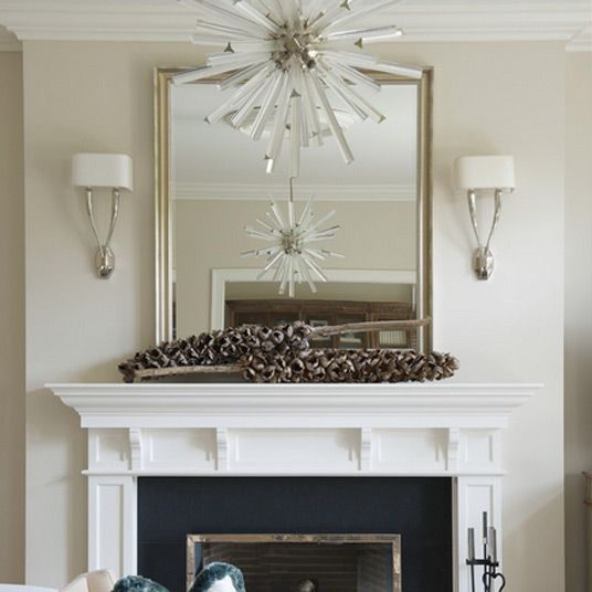 Mirrors over fireplace decoration ideas decoration - How to decorate a mantel with a mirror above it ...