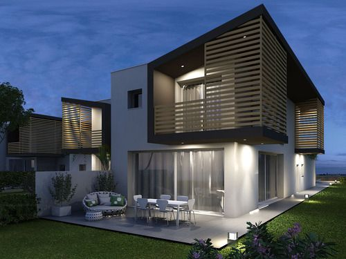 mirco zengiaro progetto di sei case a schiera villas