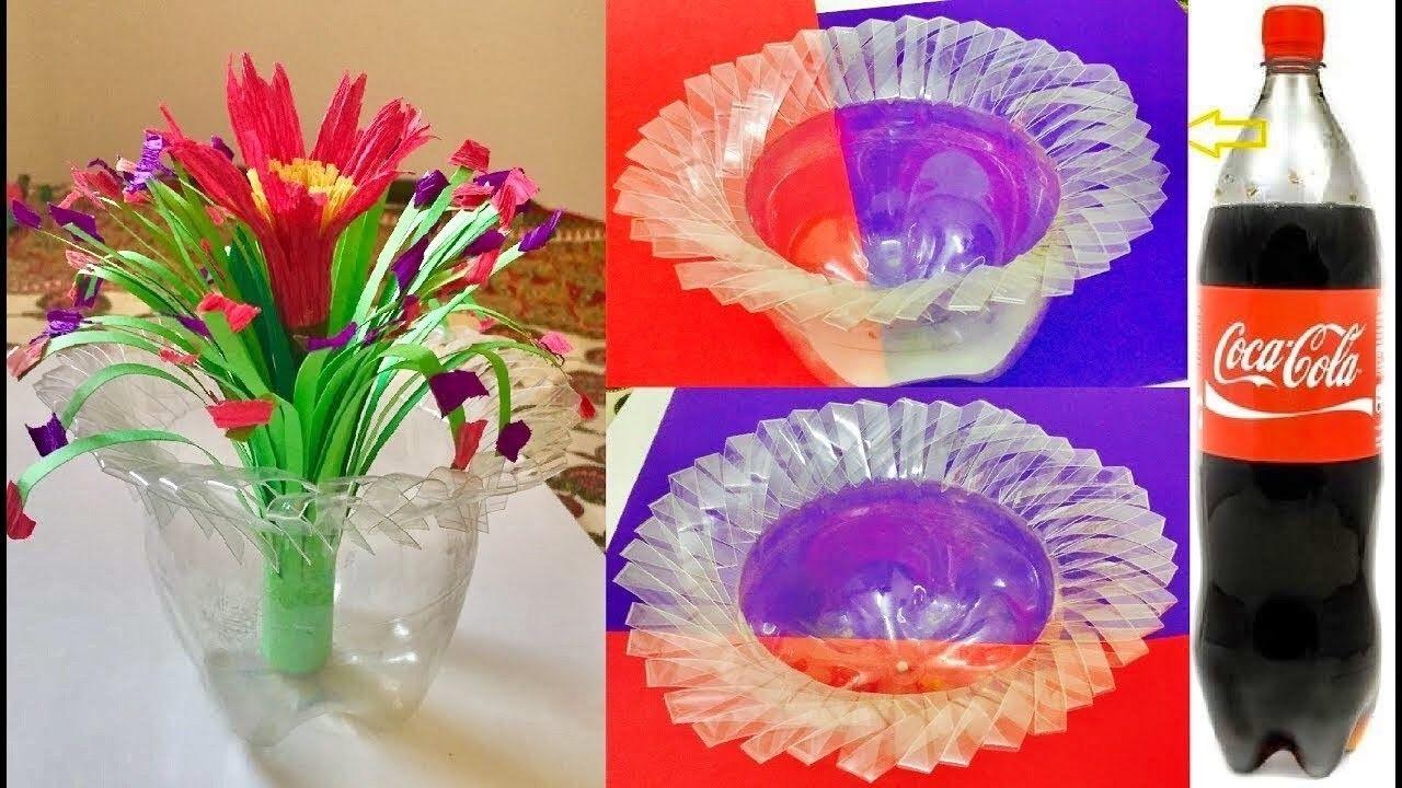 plastic bottle flowers how to make