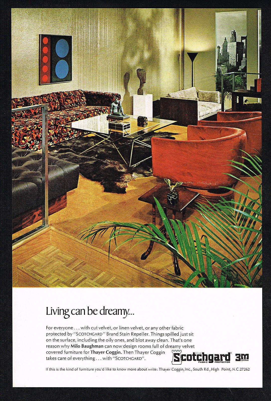 1967 Milo Baughman Thayer Coggin Furniture Advertising Vintage