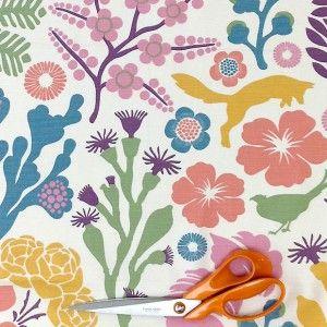 Fox Grove Swedish Pastel Fabric Hus Hem Co Uk Scandinavian Fabric Fabric Wallpaper Scandinavian Design