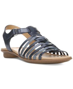 290936e81fd Naturalizer Wade Flat Sandals - Blue 10.5M