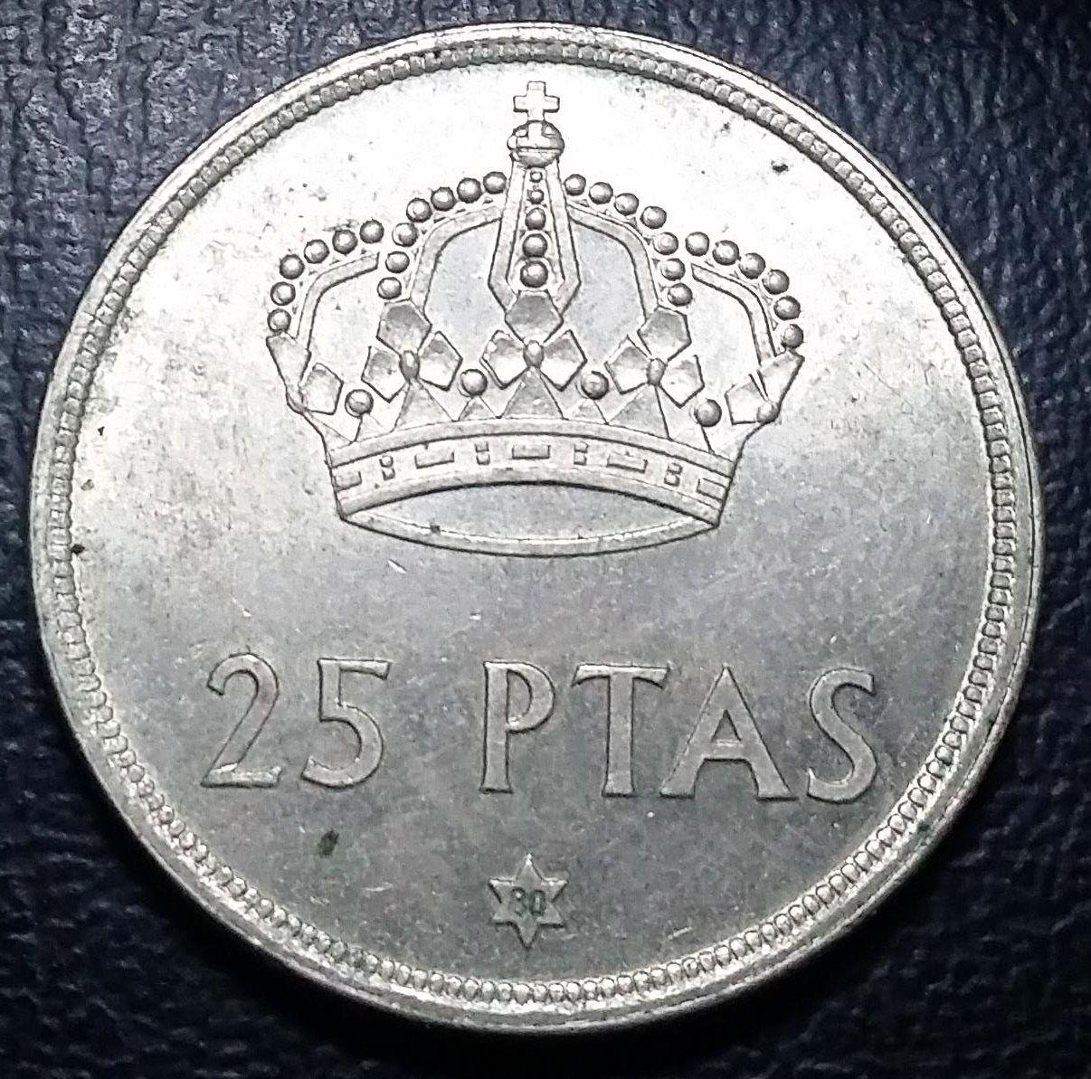 Coin 25 Pesetas 1975 Spagna Monete Spagna E Vintage
