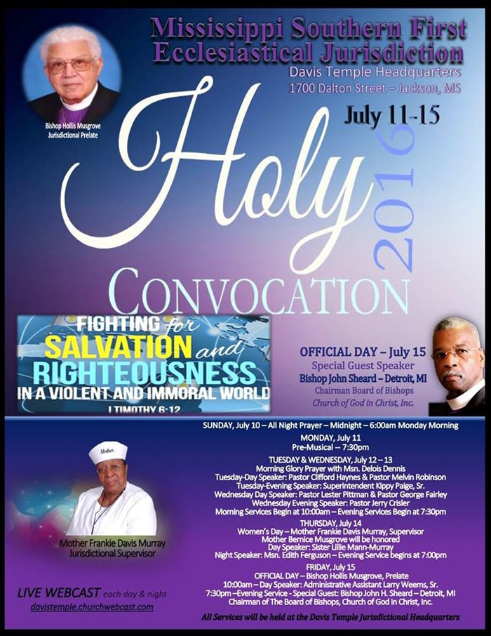 House Holy Convocation Highway Christian Church