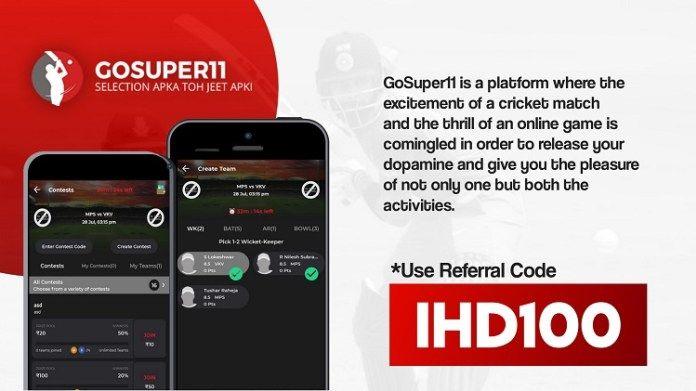 GoSuper11 Referral Code IHD100, APK Download Coding