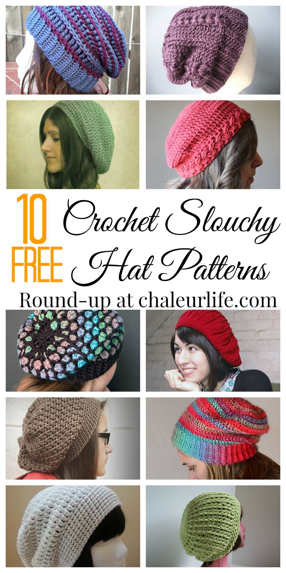 d3dcd5efe8bc7 10 Free Crochet Slouchy Hat Patterns