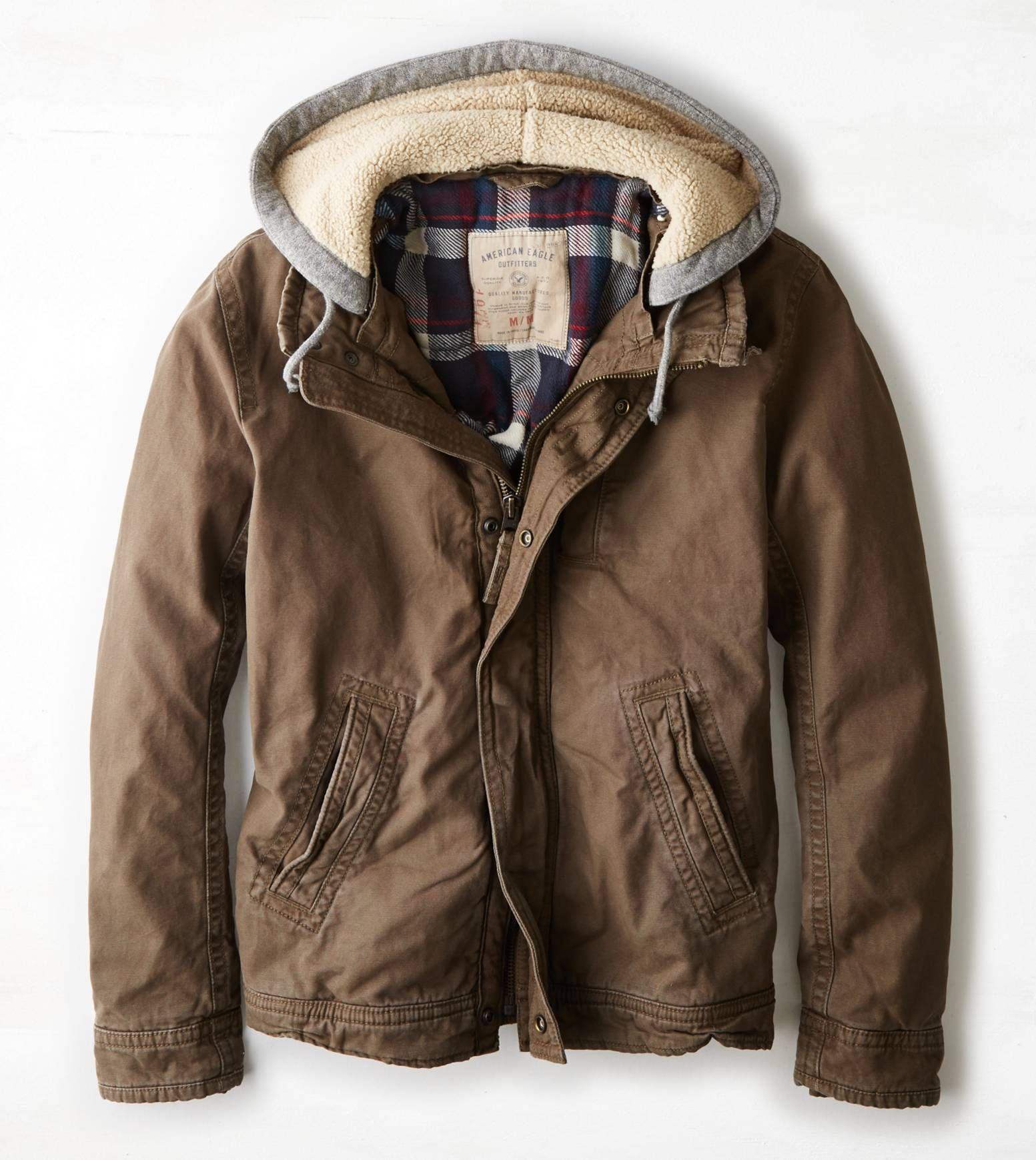 Aeo Vintage Workwear Jacket Tobacco American Eagle Outfitters Mens Outfitters Mens Outfits Lounge Wear Stylish [ 1739 x 1553 Pixel ]