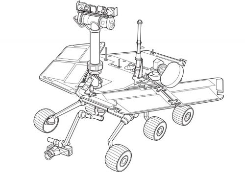 Coloring Page Mars Rover Img 9960 Mars Rover Mars Exploration Rover Space Coloring Pages