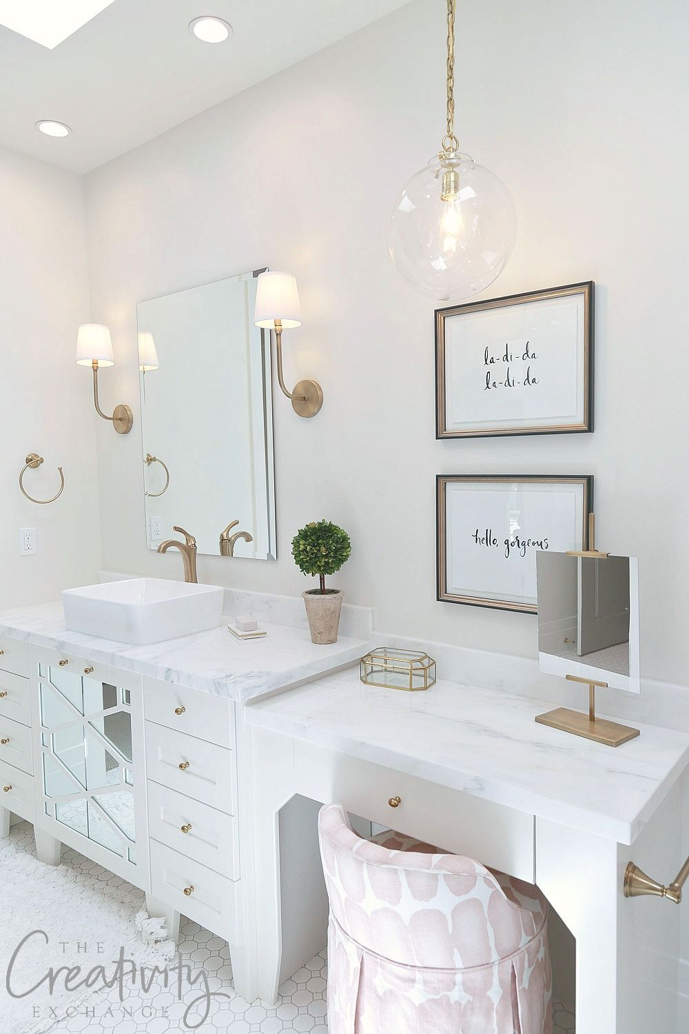 All white guest bathroom design. Raykon Construction #Bathroomideas ...