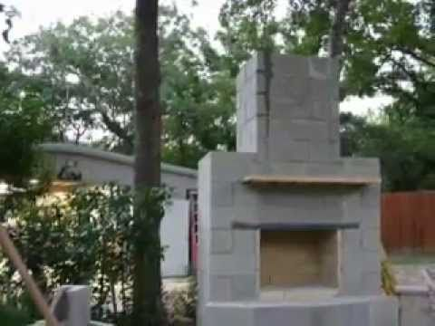 DIY Outdoor Fireplace   YouTube