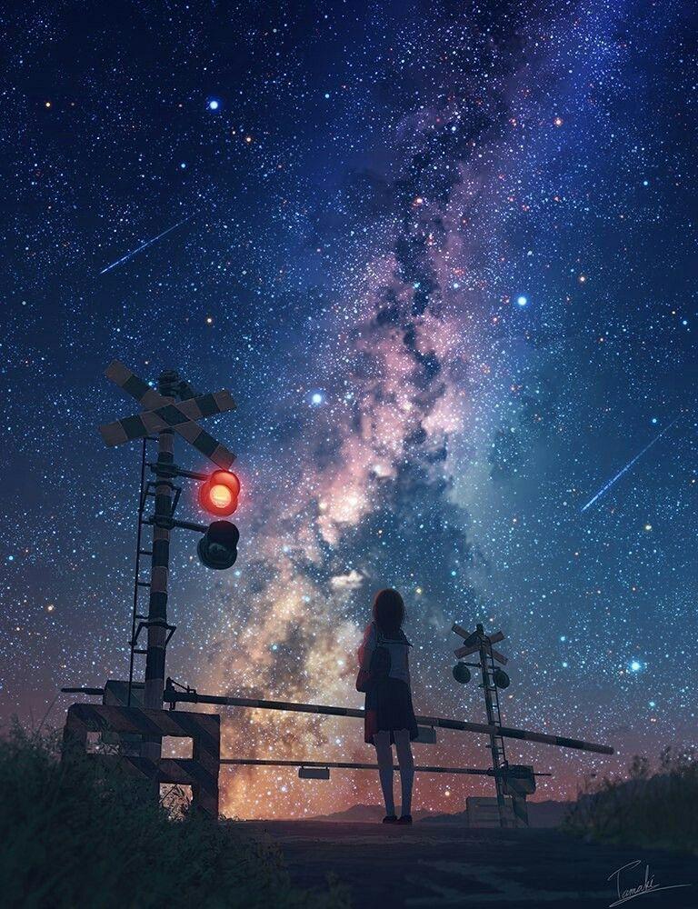 космос аниме картинки
