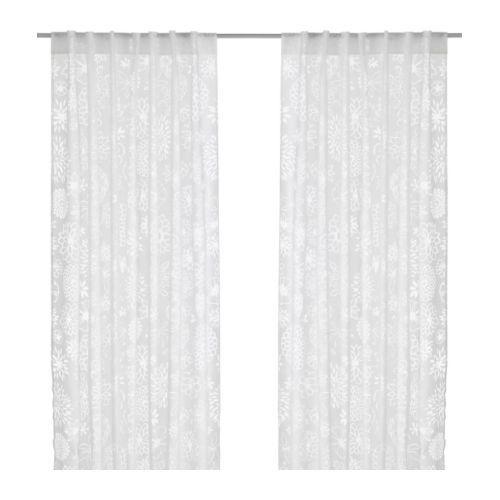 renate ljuv voilage 1 paire ikea rideau l ger et transparent qui laisse passer la lumi re du. Black Bedroom Furniture Sets. Home Design Ideas