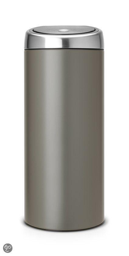 Brabantia 30 Liter Afvalemmer.Bol Com Brabantia Touch Bin Afvalemmer 30 L Platinum Koken