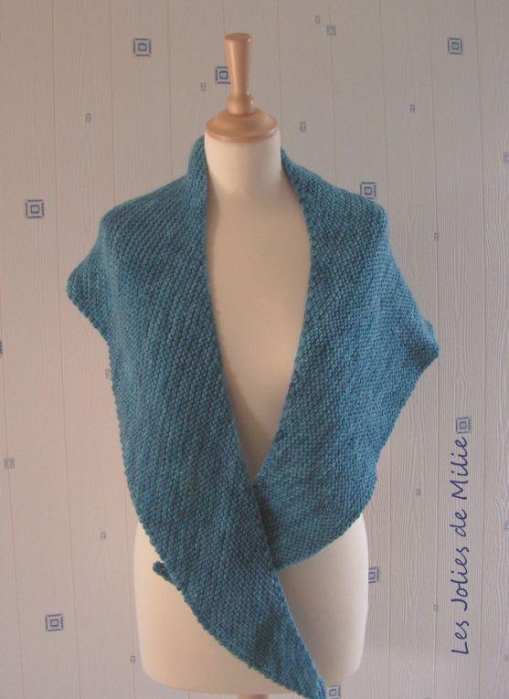 Le châle facile *TuTO* | Tricot facile, Modele tricot gratuit et Modele tricot