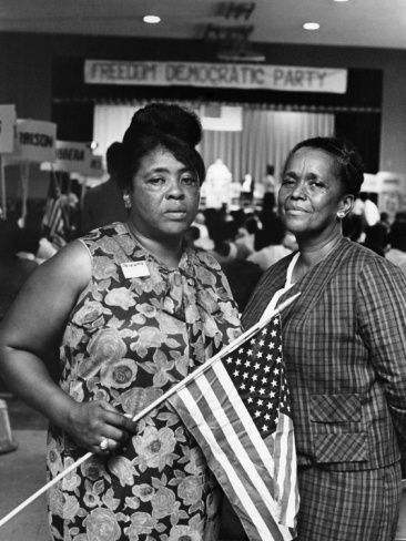 Fannie Lou Hamer And Ella Baker Are Photographed Attending The Freedom Democratic Party 1964 Photo Credi Women In History Black History Facts African History