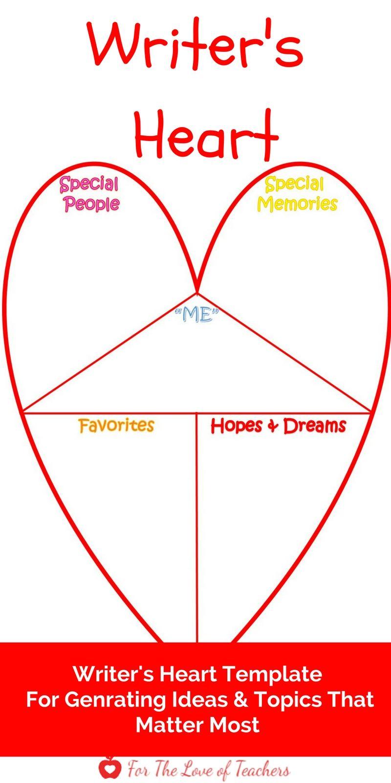 writer s heart template pinterest heart template personal