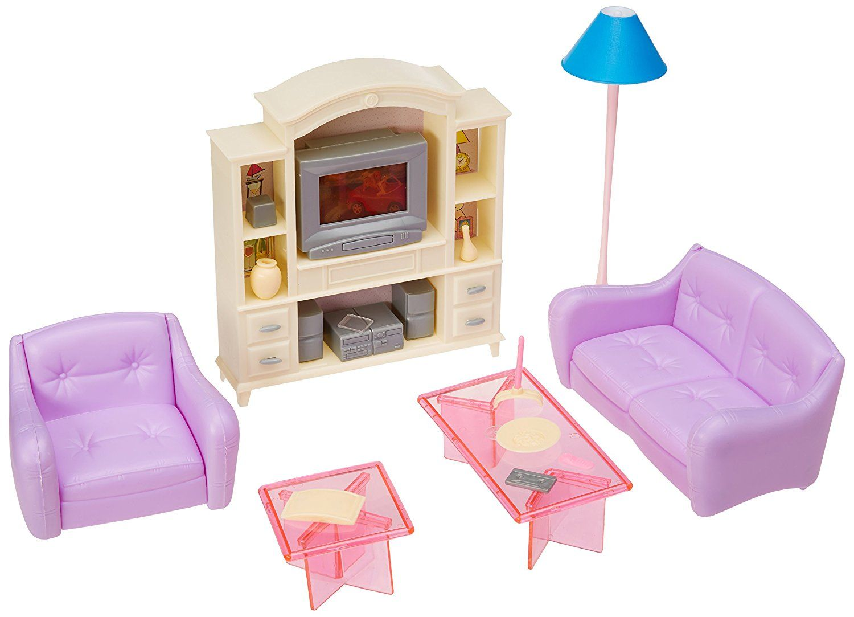 My fancy life barbie size dollhouse furniture - Barbie living room dress up games ...