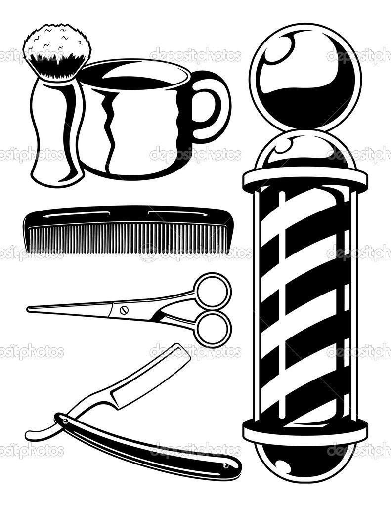 Barber Pole Colouring Pages Desenhos Para Barbearia Tatuagem De Barbeiro Slogan De Barbearia