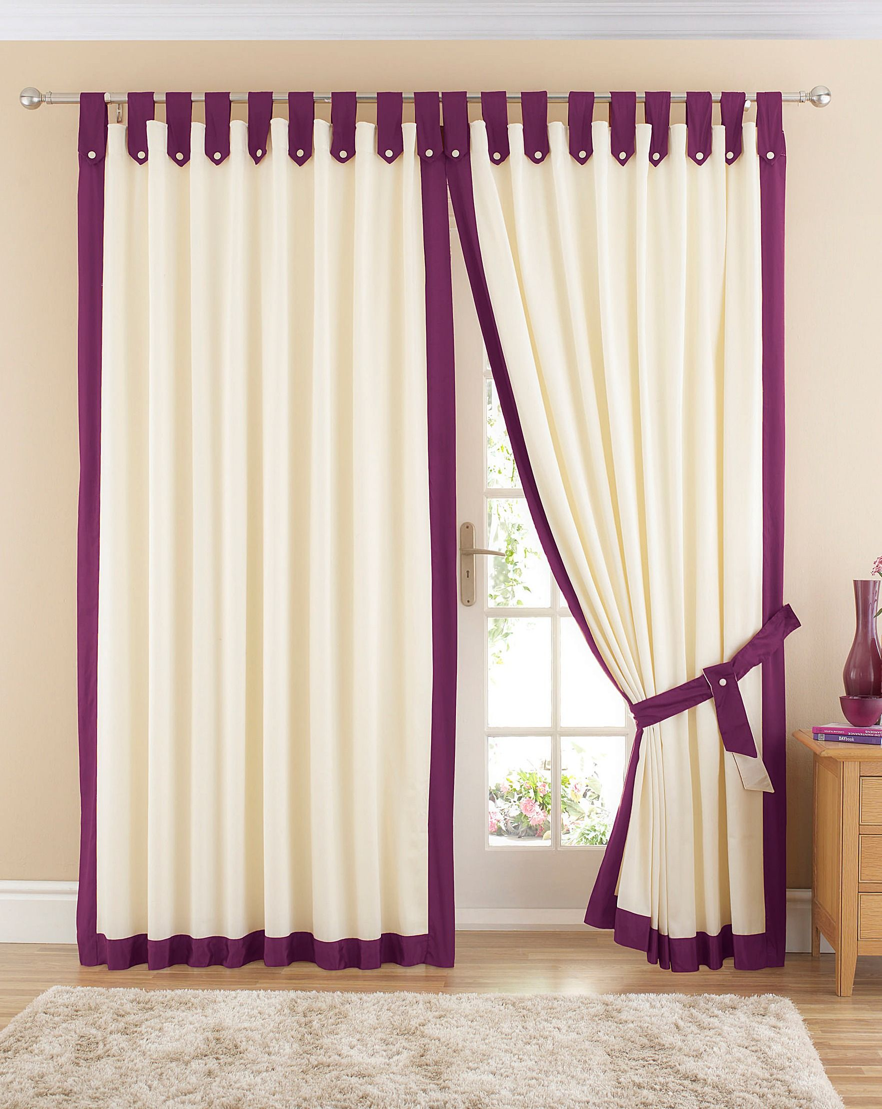 How to make tab top curtains - Room Design Curtain Blinds With Elegant Curtains And Cotton Tab Top Curtains Natural Also Black