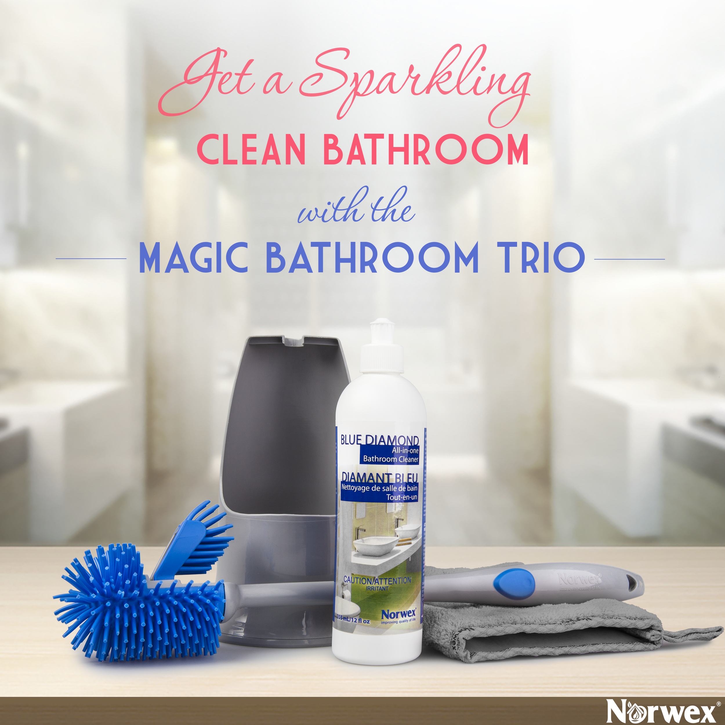 Want A Sparkling Clean Bathroom Without Using Chemicals The Norwex Magic Trio Has