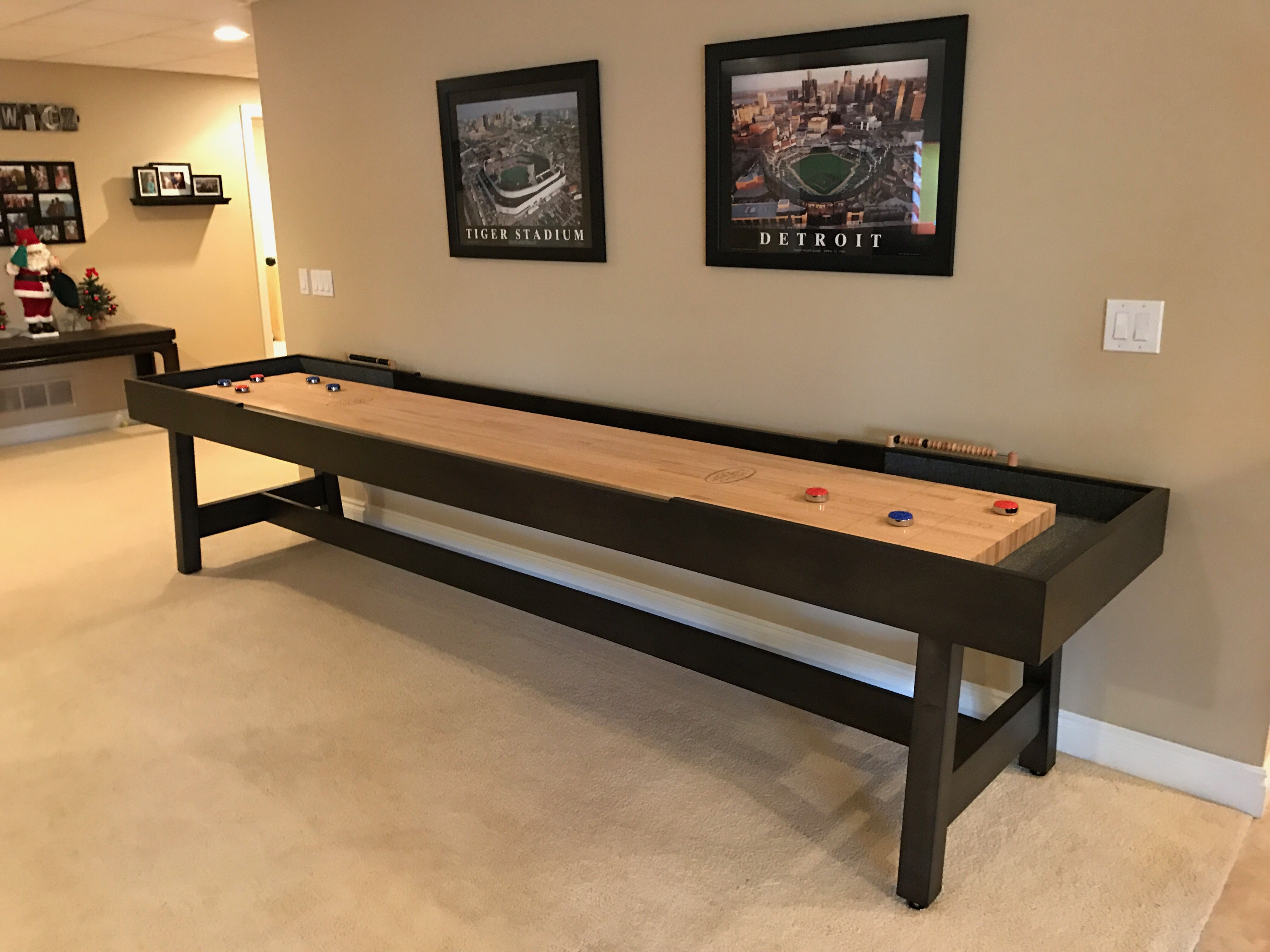 Contemporary Shuffleboard Table Our Contempo Is Affordable Luxury  Handcrafted In Michigan Made With Pride In America