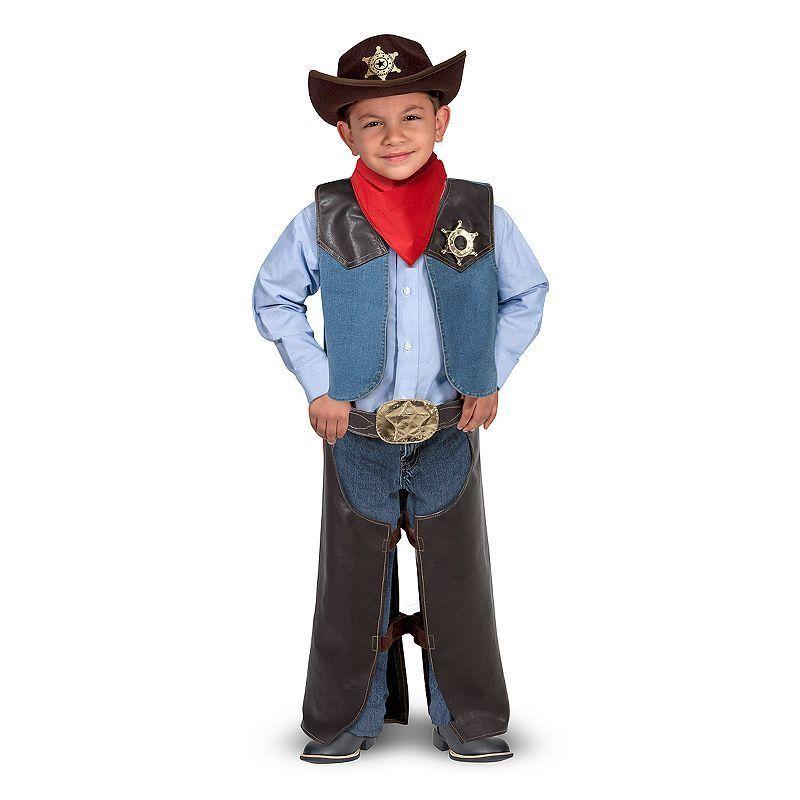 Cowboy Enfant Western Costume Déguisement Âge 7-8
