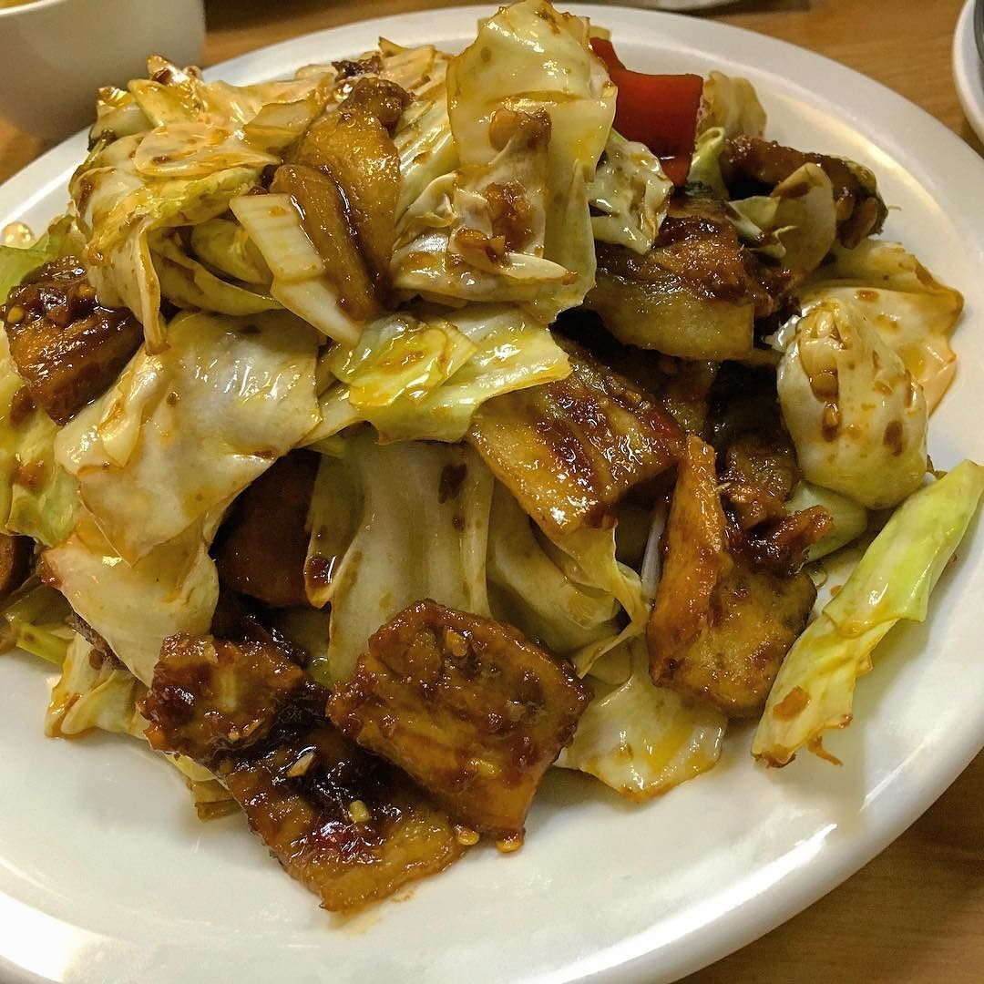 Stir Fried Pork With Topan Sauce At Han S Restaurant Got My Coworkers Hooked On This Dish Too Twicecookedpork Twice Twice Cooked Pork Fried Pork Food Photo