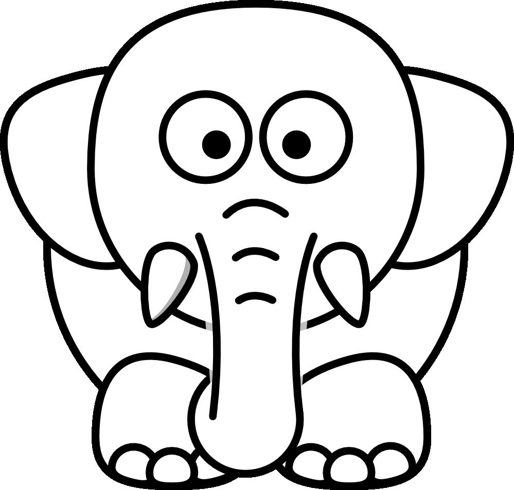 Clipartist Net Clip Art Lemmling Cartoon Elephant Black White