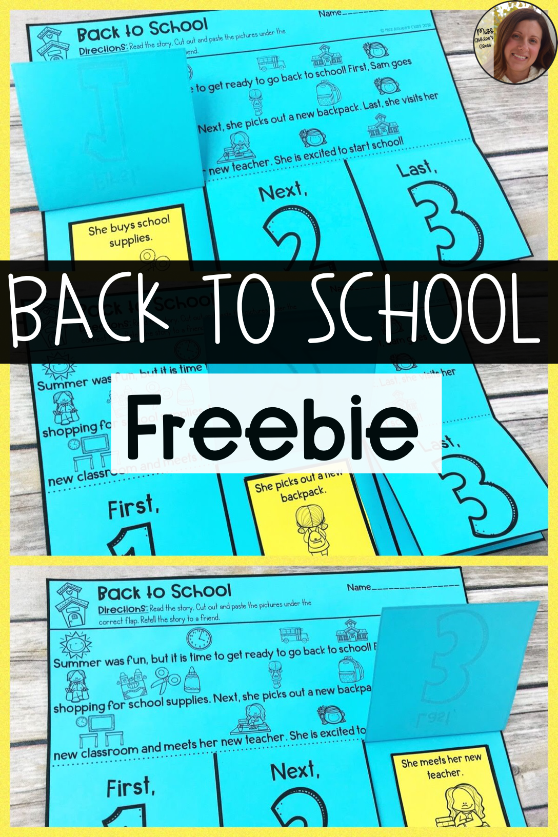 Back To School Story Retelling And Sequencing Freebie