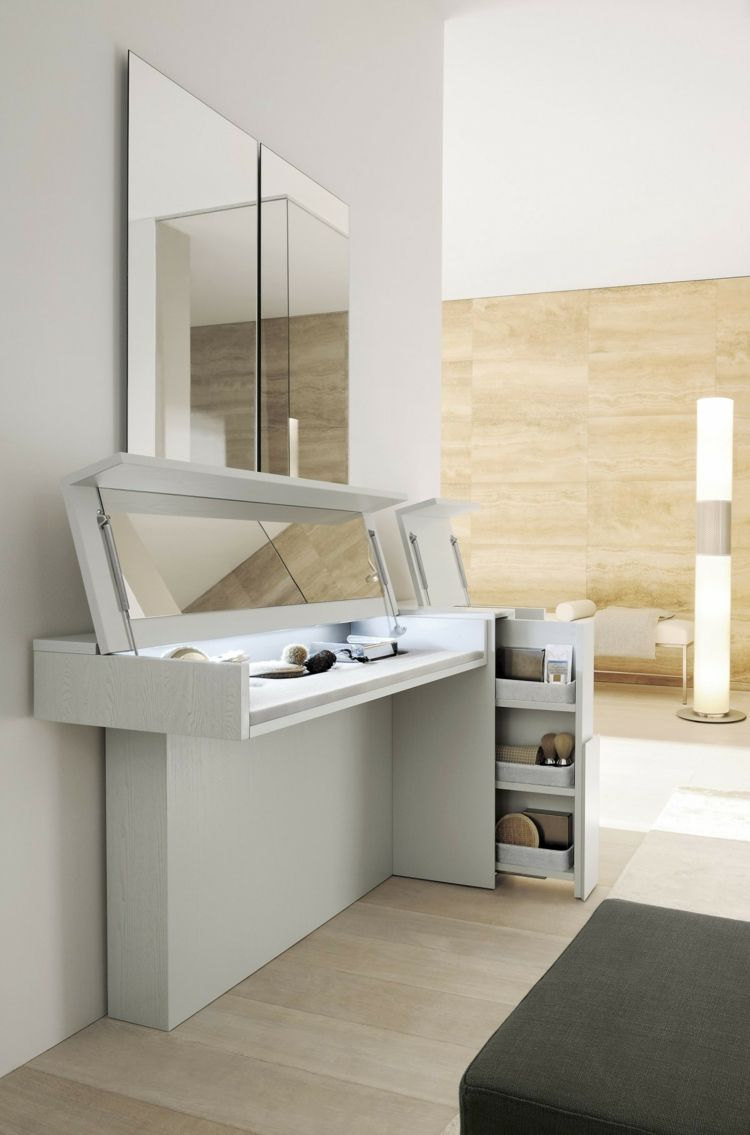 meuble coiffeuse en blanc et en d autres couleurs 30 id es inspirantes coiffeur meubles et. Black Bedroom Furniture Sets. Home Design Ideas