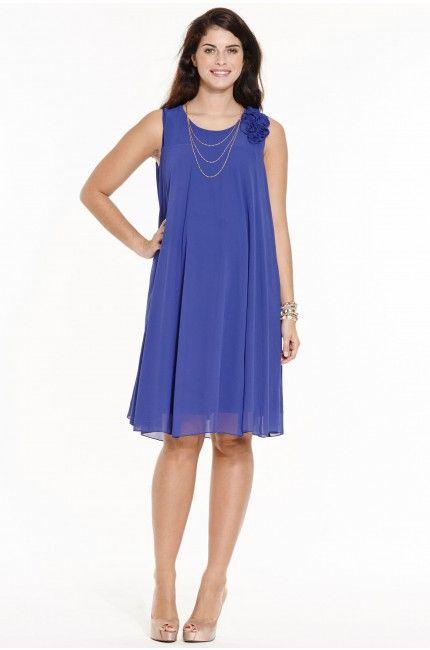 1545a64dc8da Robe de grossesse habillée coupe trapèze bleu Inga