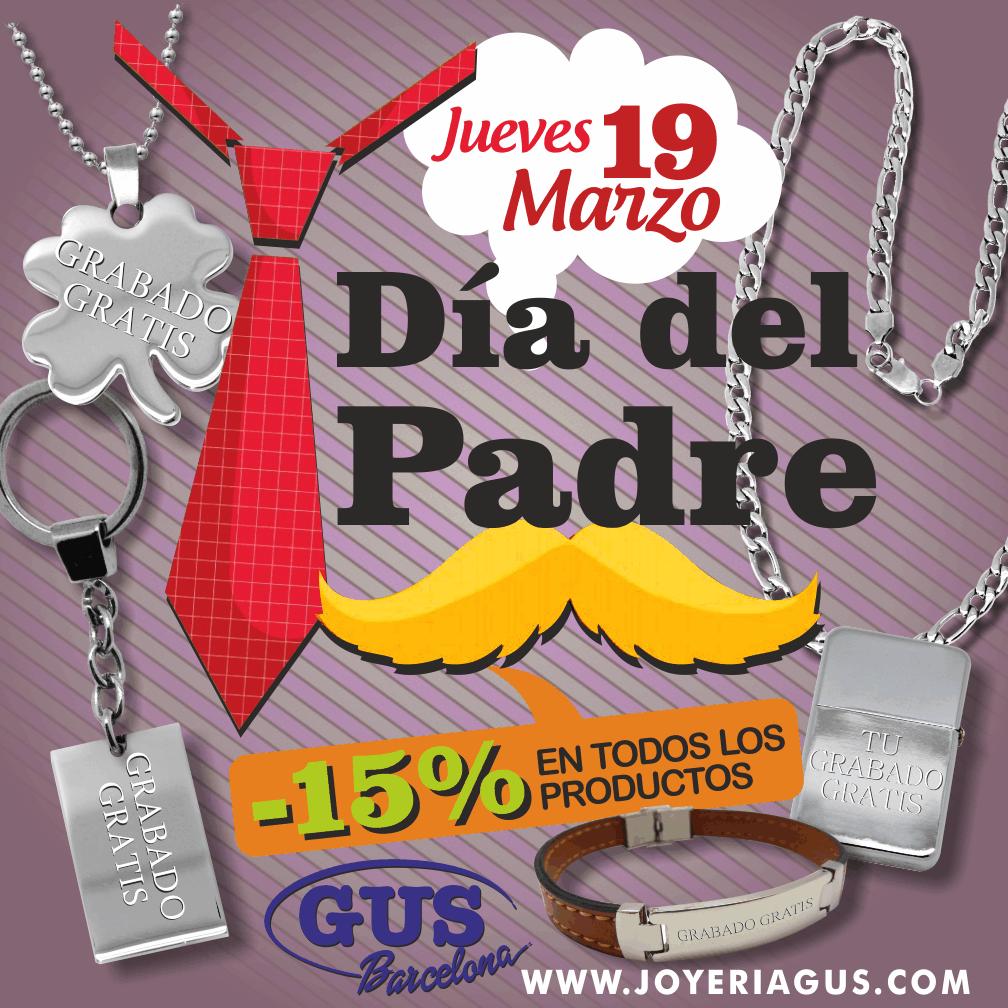 VISITANOS EN www.joyeriagus.com TENEMOS OFERTAS PARA EL DIA DEL PADRE, 19 DE MARZO :) descuentos del 15% en todos los productos!! GRABAMOS GRATIS EL MENSAJE QUE QUIERAS!! Y SERÁ UNA JOYA QUE TENDRÁS PARA TODA LA VIDA!!  #joyeria #diadelpadre #padre #joyas #complementos #joyasparahombre #joyeriagus  #barcelona #joyasespaña #19marzo #regalos #acero #joyeriaenacero #grabado #personalizable #personalizado #joyaspersonalizadas  #pulseras #colgantes #cadenas #llaveros #mecheros #adomicilio