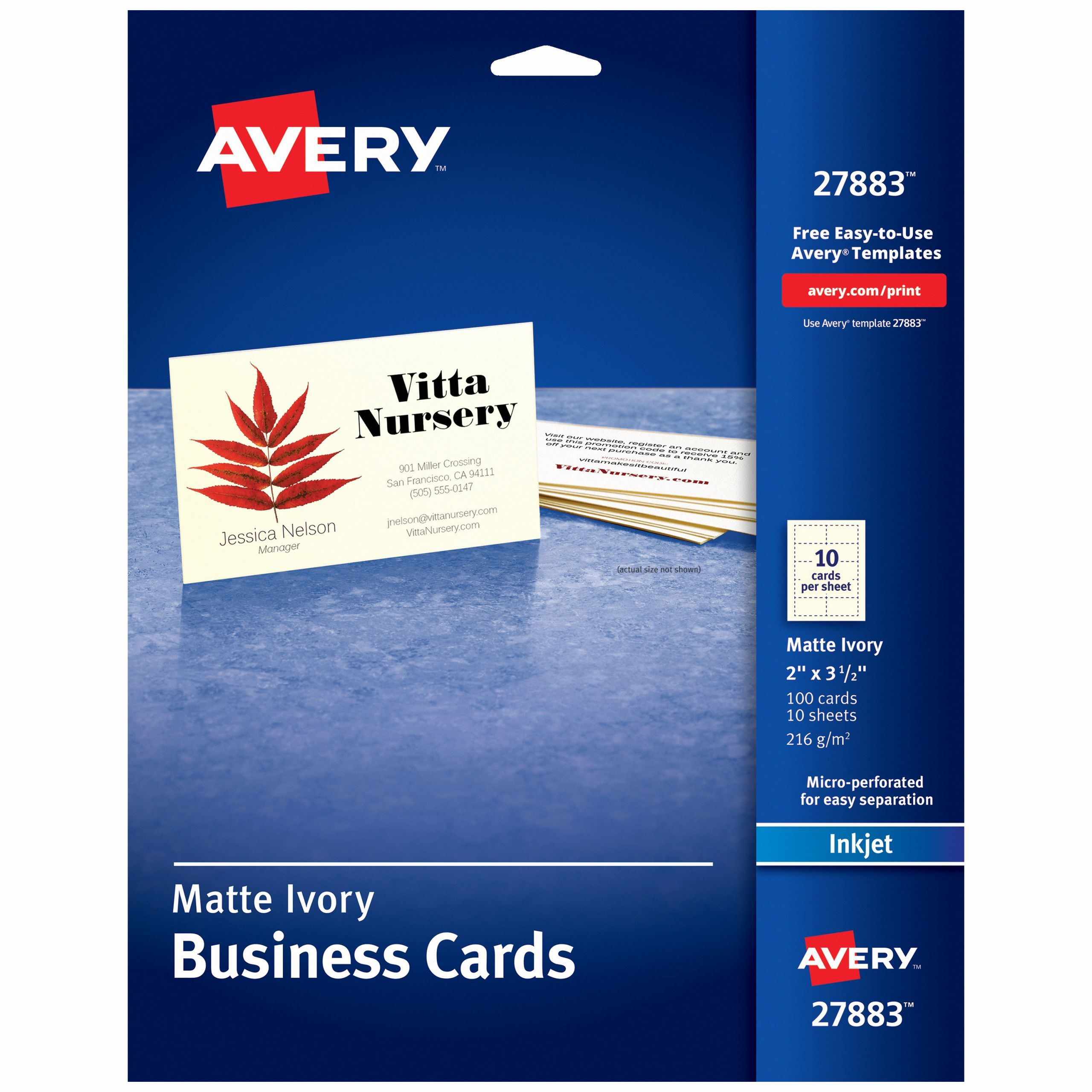 Avery 2 Round Labels Template Unique Avery Printable Business Cards Matte Ivory Two S In 2020 Printable Business Cards Avery Business Cards Business Card Template Word