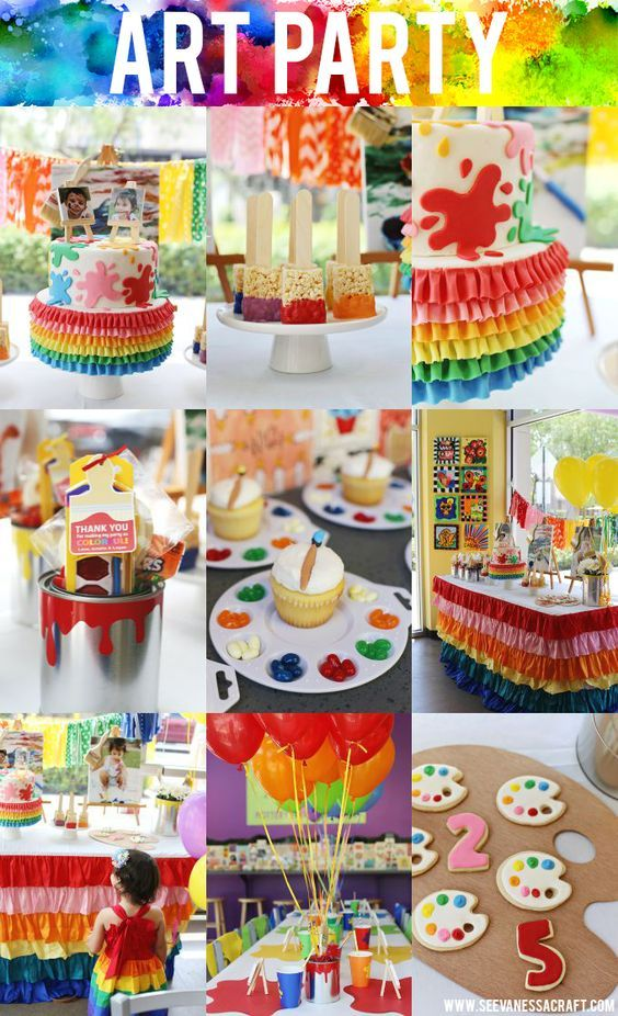 25 Fun Birthday Party Theme Ideas Tinks Poots Bday Art Themed Rh Com