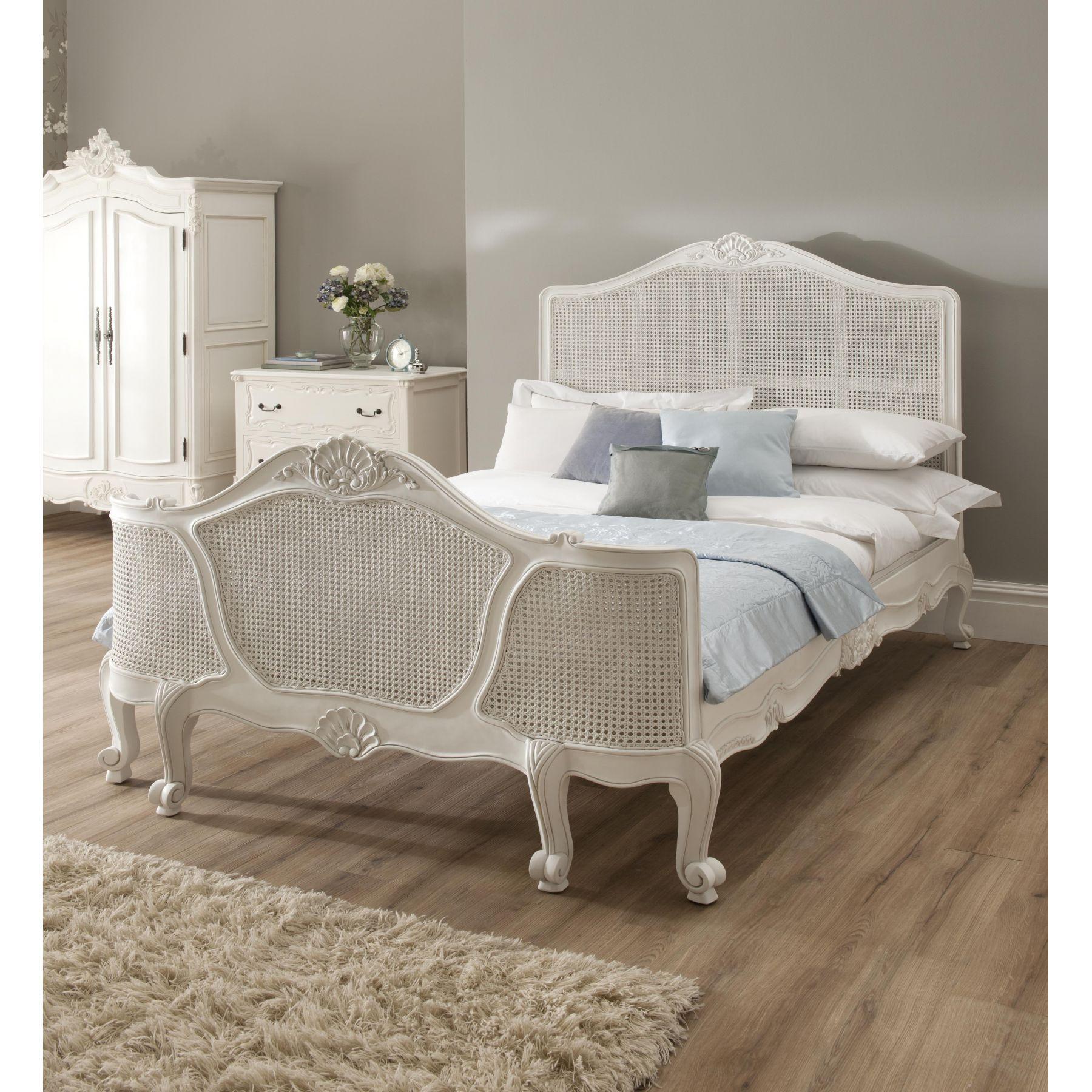 White Wicker Bedroom Suite: Ivory Gloss Bedroom Furniture