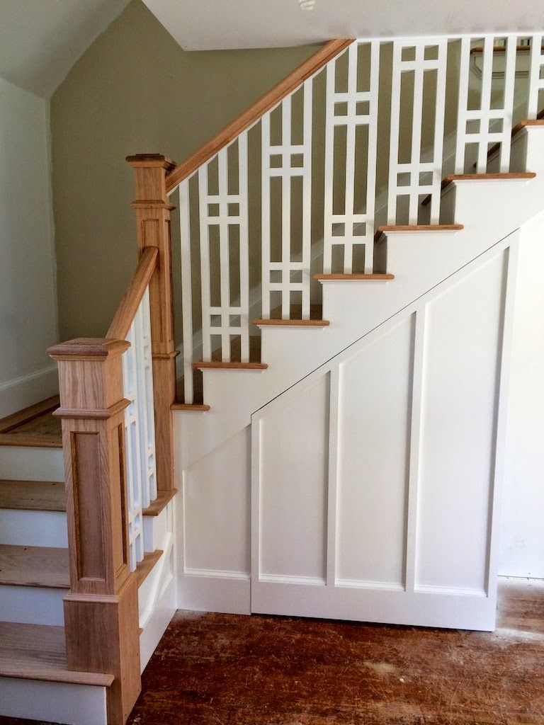 Beautiful Craftman Style Staircase Via Sopo Cottage Our Newell Posts Oak Is Traditional For Floors In Craftsman