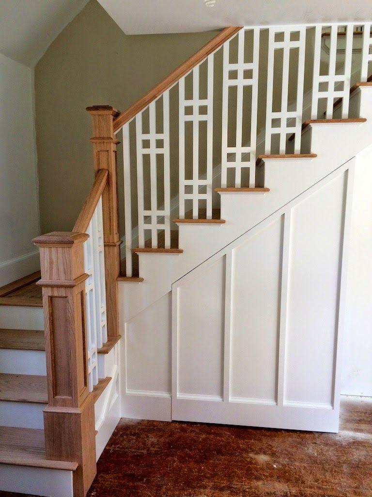 Beautiful craftman style staircase via sopo cottage - Pintura para escaleras ...