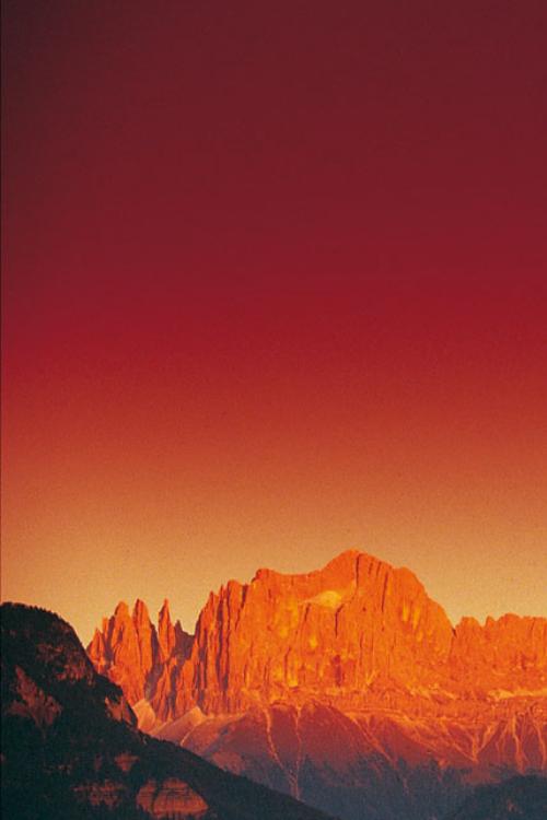 Sunset Dolomites South Tyrol