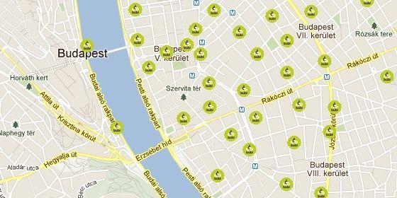 bubi térkép BuBi állomások Budapesten: kerékpárkölcsönző pontok, térkép  bubi térkép