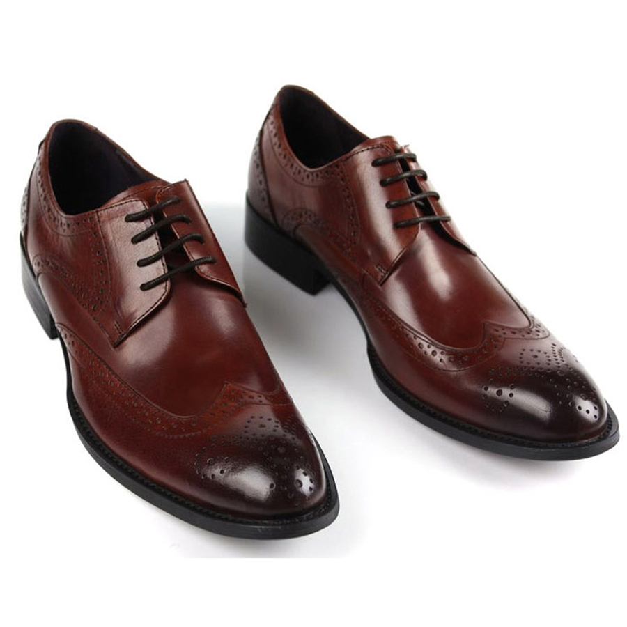 72.90$  Watch here - http://alierm.worldwells.pw/go.php?t=751016866 - Cutout carved fashion luxury fashion european version of the male formal leather commercial pointed toe leather cowhide 72.90$